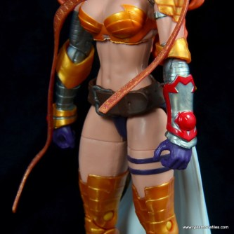 Marvel Legends Angela figure review -left gauntlet detail